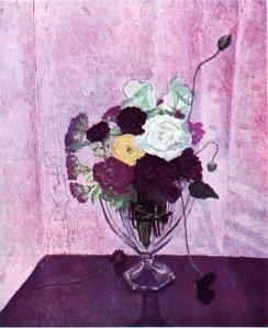 Flores, pintadas en el estudio de Chartwell
