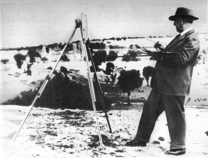 Francisco Franco, pintando