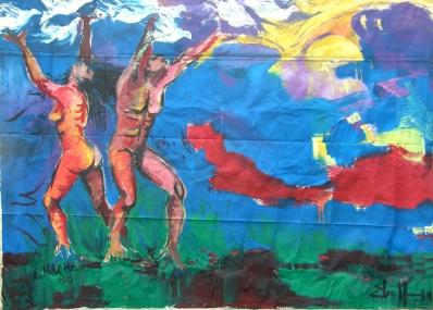 Mural de Angel Haché y Elsa Nuñez 1988