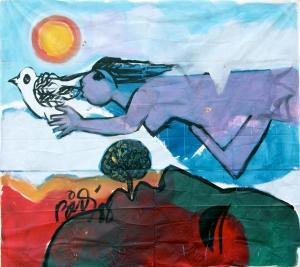 Mural pintado por Bidó. 1988