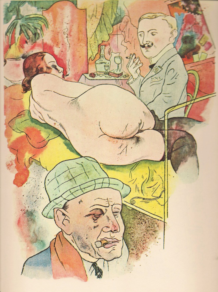 Dibujo de George Grosz.