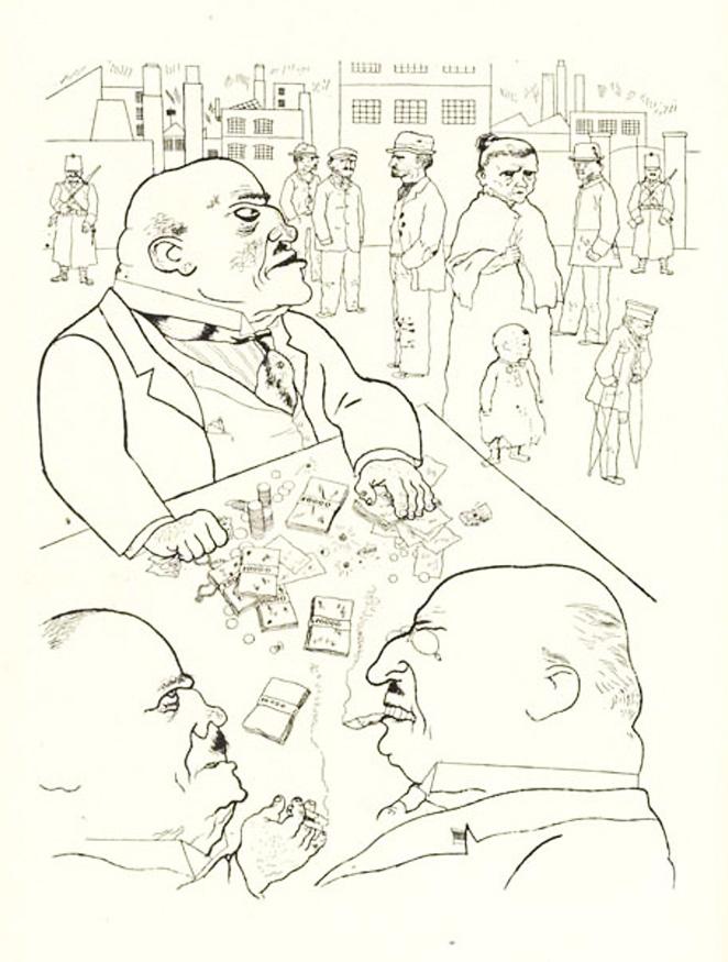 Grosz. Dibujo de la serie El rostro de la clase dominante